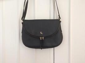 Ashwood small black leather crossbody bag