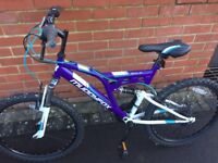 Almost new bicycle for sale: (£35 + foot pump for FREE) Muddyfox Recoil24 Girls