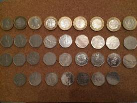 £2 and 50p collectable coins