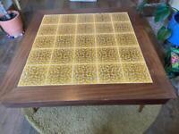 Tiled coffee table vintage mid century