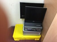 DESKTOP COMPUTERS , SONY MONITOR , 19 INCH TV WITH DVD , LAPTOP