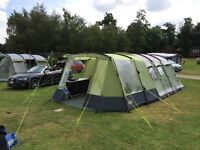 Outwell Montana 6 tent, outwell canopy, gelert awning, cupboard, coolbox, air bed.