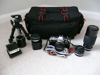 Olympus OM10 Camera with Lenses