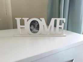 'Home' decorative photo frame