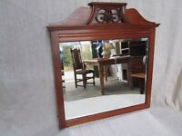 Ornate Mahogany Hall Mirror