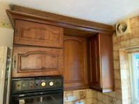 Kitchen cabinets with solid wooden doors