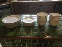 Dinner service 8pc silver plated