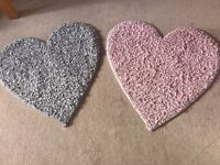 Next Heart Shape Rugs - Pink and Silver