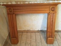 Timber fire place surround / mantle piece!