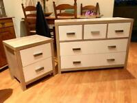 Chest of drawers and bedside cabinet - 6 months old