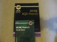GCSE French revision guide + vocab book