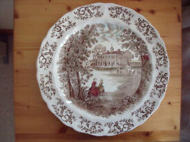 "12½"" Johnson Bros, Windsor Wear, Mount Vernon 'View Over The Potomac East Front' plate. £10 ovno"