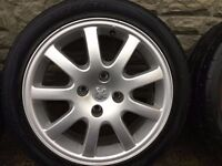 Alloy wheel with tyre/1piece or 4 pieces...35p...120p)