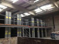 job lot 30 bays DEXION impex industrial shelving 2.4 meters high ( pallet racking , storage)