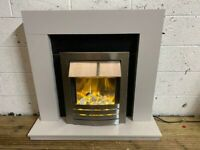 ELECTRIC FIRE WITH FULL SURROUND IN GOOD CONDITION