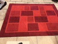 Warm rich coloured Red Rug 230cm x 170cm