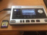 Used Boss br80 digital recorder