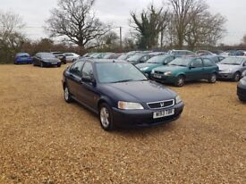 2000 Honda Civic 1.5 6 Months MOT Low Milage 2 Former Keepers Cheap Car