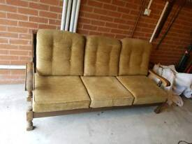 Vintage Sofa and arm chairs