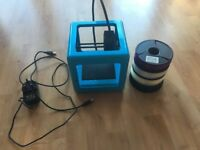 M3D Micro Compact 3D Printer plus four filaments - barely used