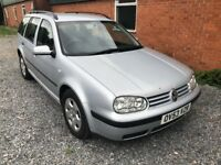 GOLF ESTATE 1.9 TDI SE 54 REG 5 DOOR IN SILVER WITH BLACK TRIM AND MOT DECEMBER
