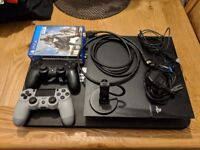 PS4 500GB with 2 controllers and 3 games