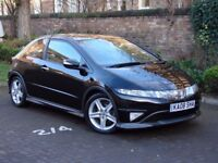 AA WARRANTY!!! 2008 HONDA CIVIC 2.2 I-CTDI TYPE-S GT 3dr, PANORAMIC ROOF, FSH, (FINANCE AVAILABLE)
