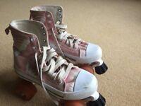 LA sports Retro quad canvas roller skates