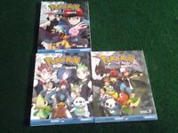 Pokemon Black and White Manga volumes 1, 2 and 3