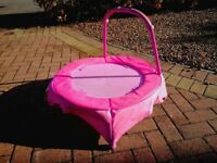 Mini pink children's trampoline
