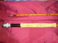 hardys palakona 2pc 9ft6in the perfection split cane fly rod