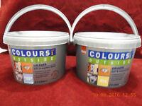 2 tubs masonry paint