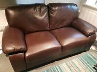 Immaculate 2 seater high quality leather sofa with memory foam