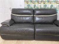 LA-Z-BOY power recliner leather sofa 3 seater
