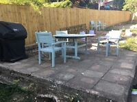 Garden patio paving slabs