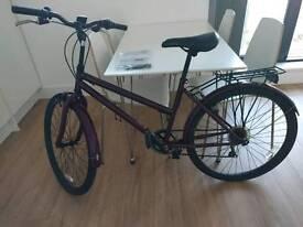 LADIES BIKE - 6 gears - garnet color 26in Challenge Meander Rigid Bike