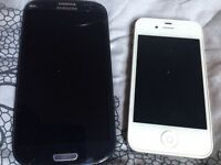 iPhone 4 and Samsung s3 both 85 pound