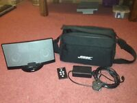bose dock fully working with 30pin connector bluetooth adapter bag & remote