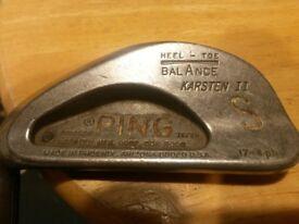 Left Handed Ping Pal Vintage Putter And Ping Karsten 2 Sand Wedge