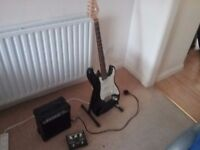 Elevation Strat electric guitar, plus 10w practice amp