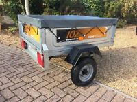 Erde 102 Tipping Trailer with Erde Fitted Cover - very little use.