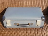 Vintage Blue , Globe Trotter, suitcase.REDUCED