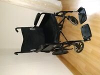 Black Leather Seated wheelchair