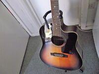 Epiphone electro acoustic cutaway guitar (aj 220 sce)