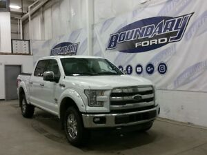 2015 Ford F-150 King Ranch W/ 3.5L Ecoboost, Leather, White Ext.