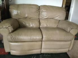 2 seater leather settee with recliners