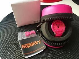 Brand new pink superdry watch