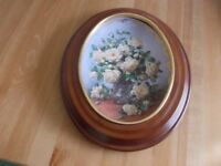 Royal Worcester plate Princess of Wales Rose as new