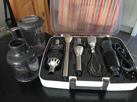 KitchenAid hand blender, black with storage case