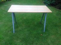 IKEA Galant desk 160 cm X 80 cm wooden veneer top brushed steel legs